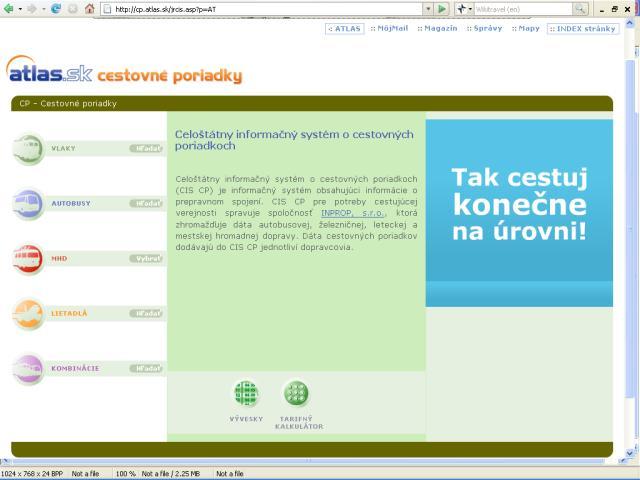 Čo ponúka web pre cestovateľov