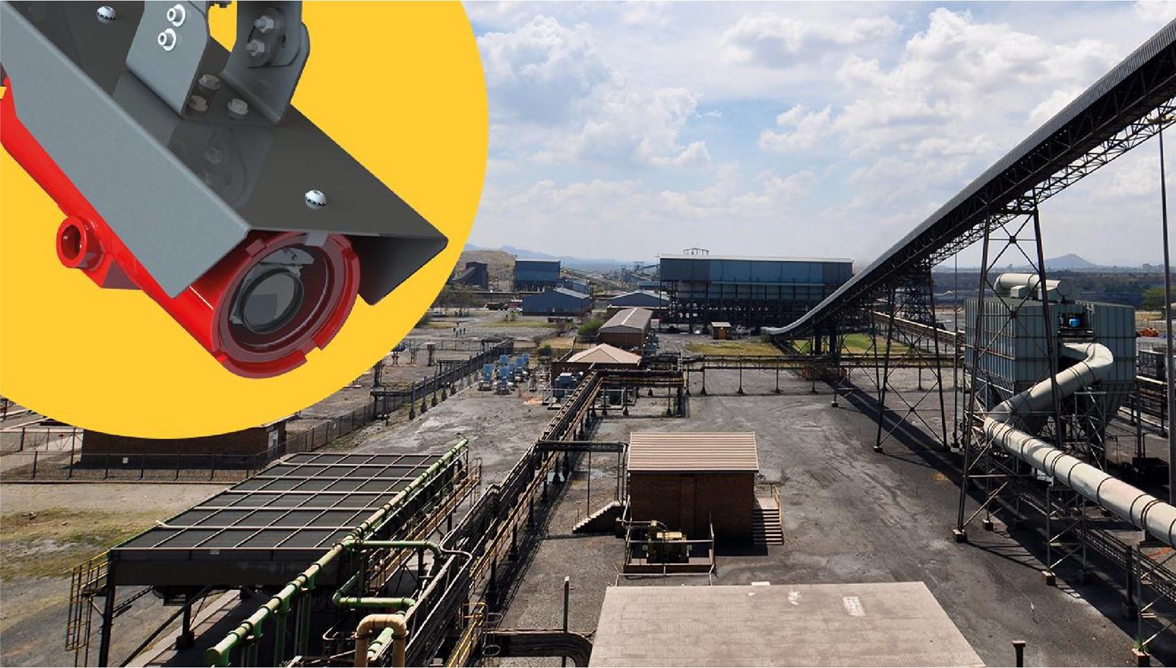 Červená kamera Axis pre rizikové oblasti s ochranou pred explóziou