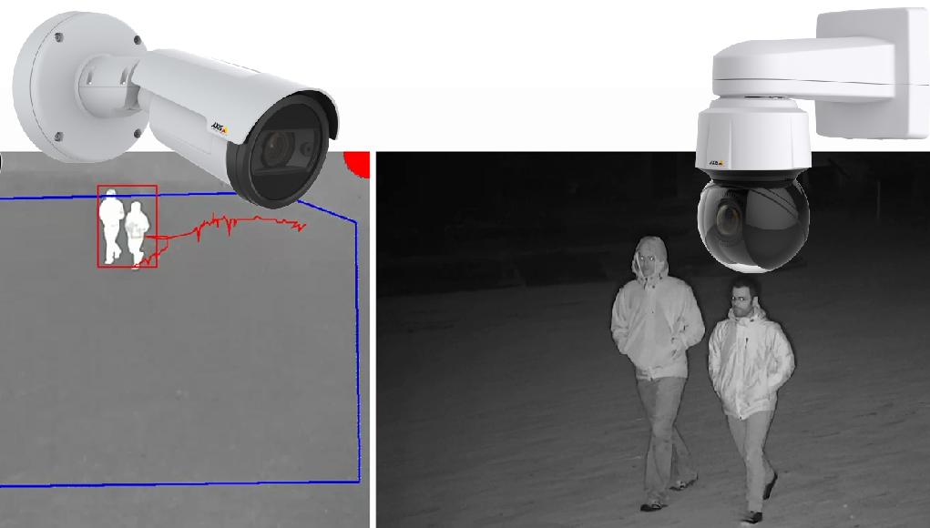 Nová aplikácia Axis umožňuje kombináciou dvoch kamier detekovať a automaticky sledovať narušiteľa